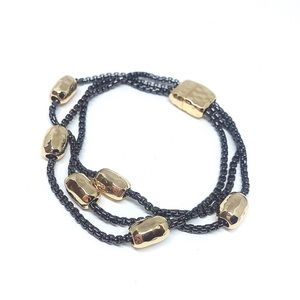 Jewelry - Rhodium Gold Plated Gold Bar Bracelet Chains